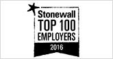 Stonewall Top 100 Employers 2016 logo